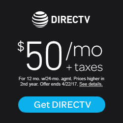 DIRECTV - SELECT Package for $50 per mo. plus taxes for 2 years
