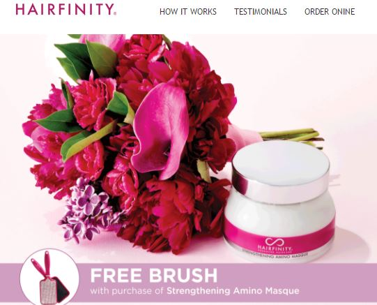 FREE Hairbrush Promo w/ purchase of Strengthening Amino Masque
