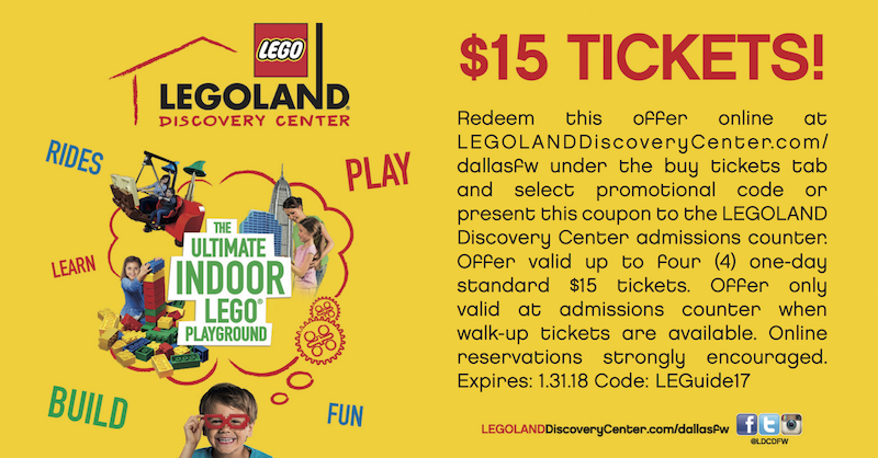 Legoland DFW Coupon 2017-2018