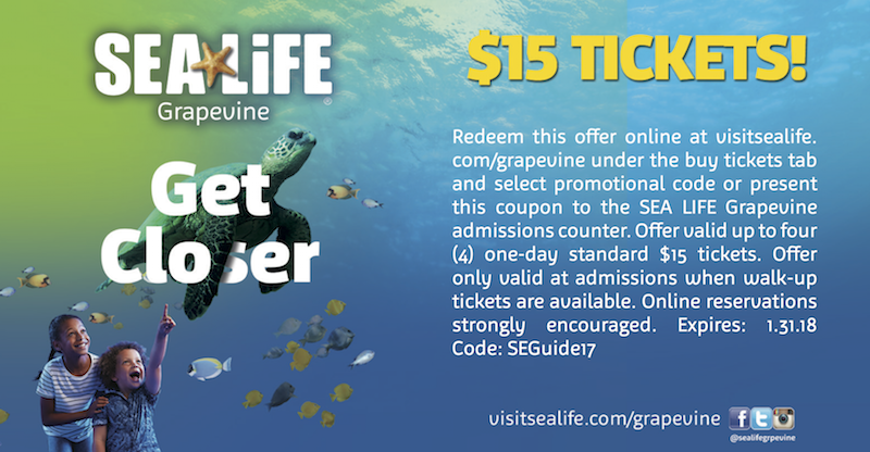 Sea Life Aquarium Coupon