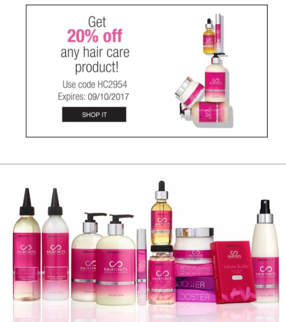 20% off Hairfinity Promo Code. Hair Vitamins that works!