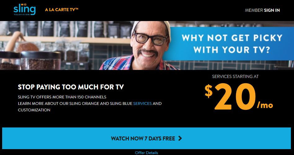 Sling TV Free Trial for 7 days. Enjoy Live Streaming TV, Sports, ESPN2