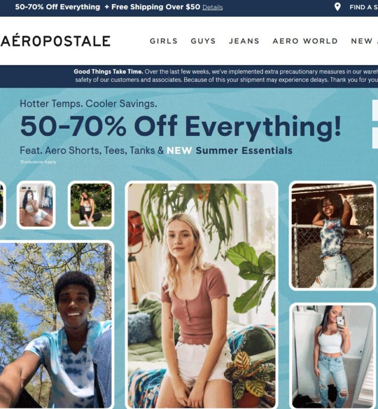 Aeropostale-Online Only: Limited Time Couchbuster! Tees $6.87 amp; Under!