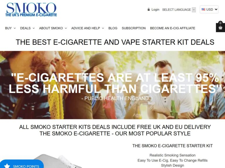 SMOKO Electronic Cigarettes Coupon Codes