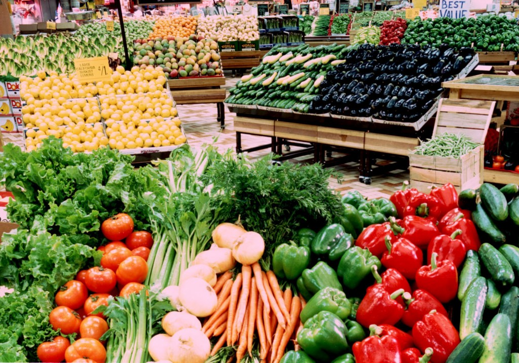 Vegetables at grocery store
